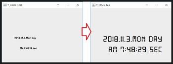 자바 스윙 GUI 디지털시계 만들기(2편)-폰트설정