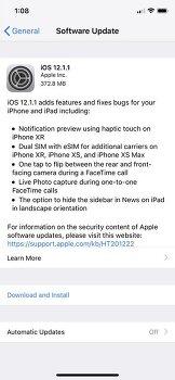 iOS 12.1.1 정식 버전 업데이트 방법 및 내용 정리