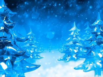 윈도우 바탕화면 테마 Ice Christmas Trees HD Wallpaper 무료 배경 이미지