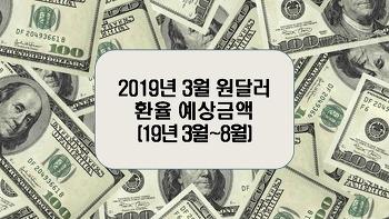 2019년 3월 원달러환율 예상금액(19년 3월~8월)