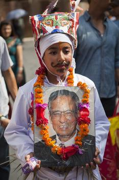 네팔, 고인의 명복을 비는 '가이 자트라' 축제