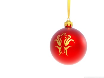 배경화면 사이트 Christmas Red Ball on White Background HD Wallpaper 무료 배경 이미지