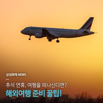 추석 연휴, 여행을 떠나신다면? 해외여행 준비 꿀팁!