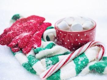 배경화면 무료바탕화면 Hot Chocolate, Candy Cane, Snow, Winter HD Wallpaper  무료 배경 이미지