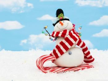 배경화면 고화질 Snowman Craft HD Wallpaper 무료 배경 이미지