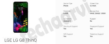 MWC 2019에서 선보일 LG G8와 LG V50 ThinQ 5G 스펙, 기능 미리보기