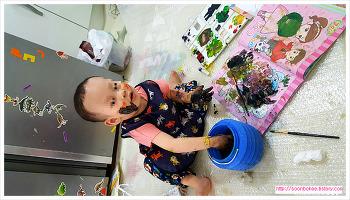 미술에 관심이 많은 똘망이를 위한 물감놀이 (유아미술, 유아 활동, 유아 놀이 재료)