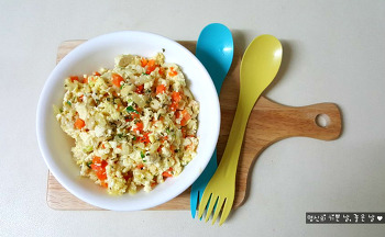 저염 요리, 두부 다이어트 요리 두부 스크램블 에그 레시피