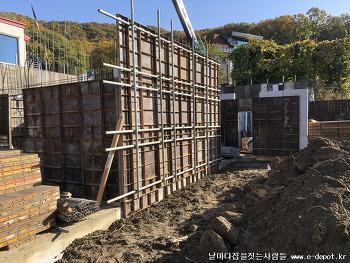 파주시 산남동 전원주택 철근콘크리트(RC조) 골조공사과정