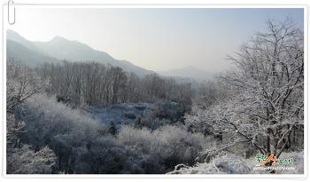 2017년 마지막 날, 눈내린 은평뉴타운, 북한산 둘레길 설경