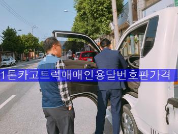 1톤 카고트럭매매 개인용달번호판가격