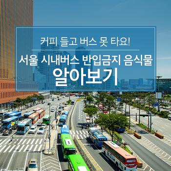 커피 들고 버스 못 타요! 서울 시내버스 반입금지 음식물 알아보기