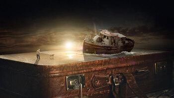 포토샵 합성 강좌 오래된 배 (Photoshop Manipulation Tutorial Old Boat)