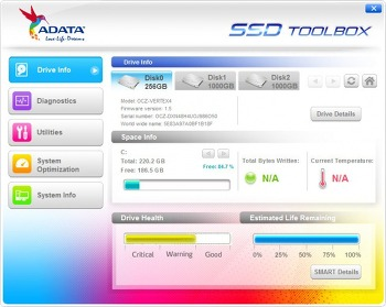 ADATA SSD Toolbox 3.0.6 (ADATA SSD 진단/최적화/정보확인)