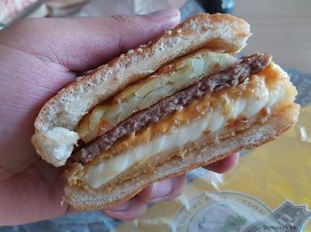 롯데리아 : 맥앤치즈 + 모짜렐라 인더버거 더블