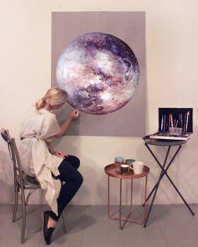 VIDEO: Vibrant Colored Pencil Drawings Filled in with the Colors of the Galaxy 호주 예술가의 초현실적인 색연필 그림