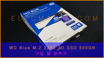 WD BLUE M.2 2280 3D SSD 500GB 간단 개봉 및 장착기