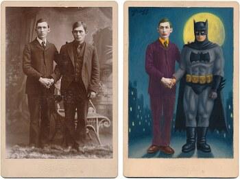 19세기 흑백 초상 사진을 유명 할리우드 영화 캐릭터로 변환