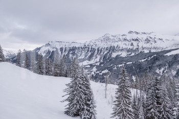 스위스 뮈렌, 아름다운 설경