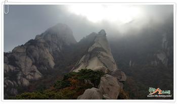 숨은벽능선 ~ 백운대,북한산 가을산행하며 단풍 즐기기