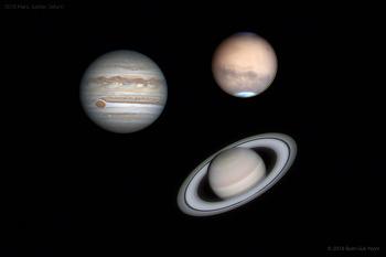 2018 Mars, Jupiter, Saturn 화성, 목성, 토성