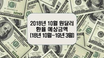 2018년 10월 원달러환율 예상금액(18년 10월~19년 3월)