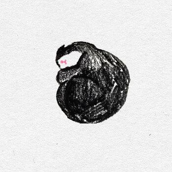 고양이 색연필 일러스트 5