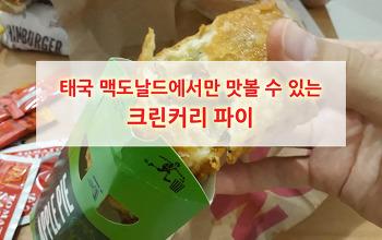 태국 맥도날드에서만 맛볼 수 있는 그린커리 치킨 파이