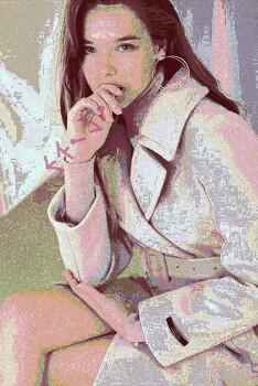 [자작그림] An Unknown Apparel Female Model 4 - 사진 편집 (Photo Editing)