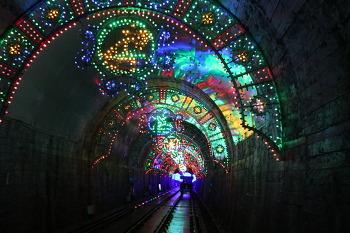 [강원도 여행] 화려한 조명 터널 지나며 바다 전망 보는 삼척해양레일바이크
