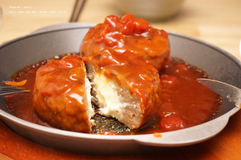 고메 치즈 함박 스테이크