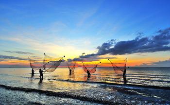 베트남 바닷가 고기잡이 7ㅡ5