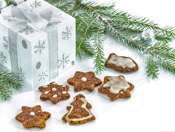 예쁜 바탕화면 Christmas Gingerbread HD Wallpaper  무료 배경 이미지