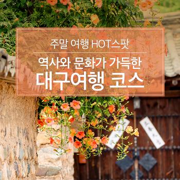주말 여행 HOT스팟 : 역사와 문화가 가득한 대구여행 코스