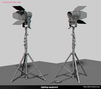 스튜디오 조명 모델링