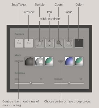 핫박스Hotbox, 셰이더Shaders, 이력History, 도움말Help과 피드백Feedback - AUTODESK MESHMIXER 사용법