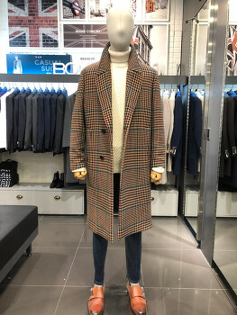 추워도 멋을 내기위한것은 코트뿐! 체크코트 추천