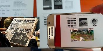 HP Reveal 앱 이용하여 증강현실 만들기(해리포터 마법신문 만들기?)