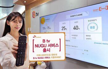 SK브로드밴드, 일반 셋톱박스로 AI 플랫폼 'NUGU' 이용 가능한 'B tv NUGU 서비스' 개시