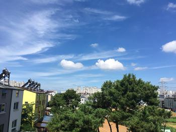 장마, 모처럼 맑고 밝은 하늘