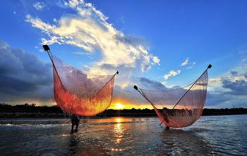 베트남 바닷가 고기잡이 7ㅡ4