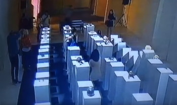 """""""한 순간에 2억이 와장창"""" 전시장에서 무리하게 사진찍던 여성의 최후 (영상)"""