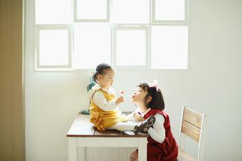 [대전주니어 우정사진] 알콩달콩 사이좋은 두 자매촬영