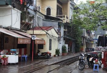 하노이 철길 짠내투어 기찻길 마을 자유여행