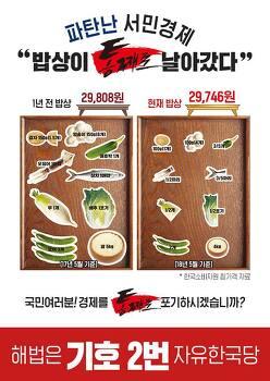 자유한국당, 파탄난 서민경제 해법은 2번