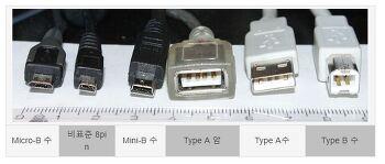 USB Universal Serial Bus(범용 직렬 버스) A타입 B타입 C타입