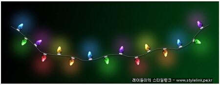 크리스마스 트리용 꼬마전구를 포토샵으로 만들어 보자~~!!