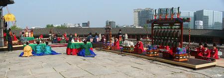 서울 경복궁에서 펼쳐진 세종조 회례연 공연