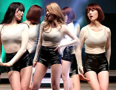 AOA 인기가요 1위-걸그룹의 섹시함