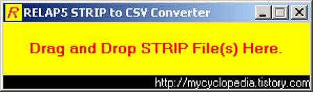 RELAP5 STRIP to .CSV Converter